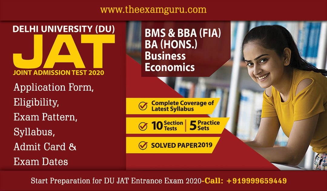 DU JAT Entrance Exam 2020